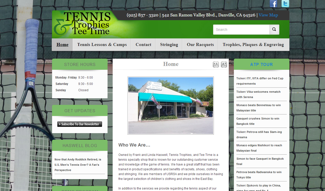 Tennis, Trophies, and Tee Time local Danville sports and tennis store